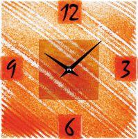 Nástěnné hodiny čtvercové 1170.8 oranžová barva