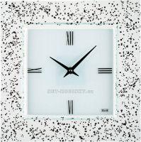 Nástěnné hodiny čtvercové 1172.3 skleněné
