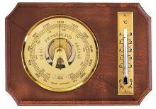 Barometr vnitřní nástěnný dřevěný s teploměrem