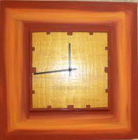 Dřevěné nástěnné namalované hodiny 117.3