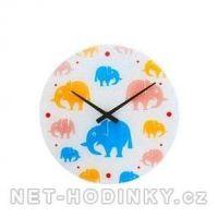 Skleněné nástěnné hodiny slon 1057.9
