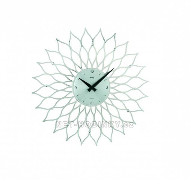 Nástěnné hodiny Nástěnné luxusní bateriové hodiny AMS 9358, 9359 Nástěnné hodiny