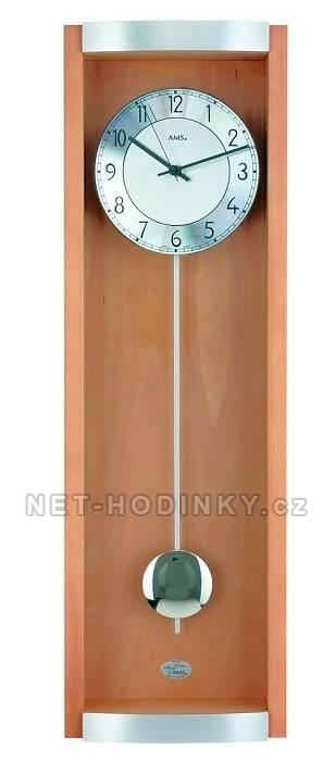 Moderní kyvadlové hodiny AMS 5285/11 černý dub, 5258/18 buk AMS 5285/18 buk