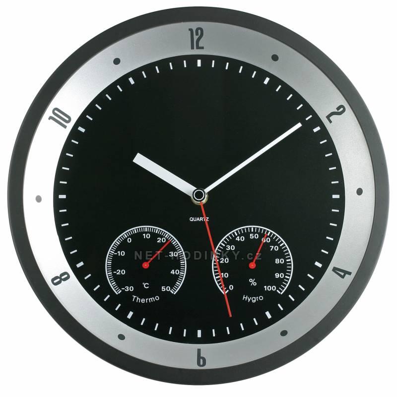 MPM Quality Nástěnné hodiny kovové IR0806TH IR0806TH stříbrná