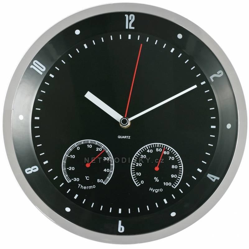 MPM Quality Nástěnné hodiny kovové IR0806TH IR0806TH černá
