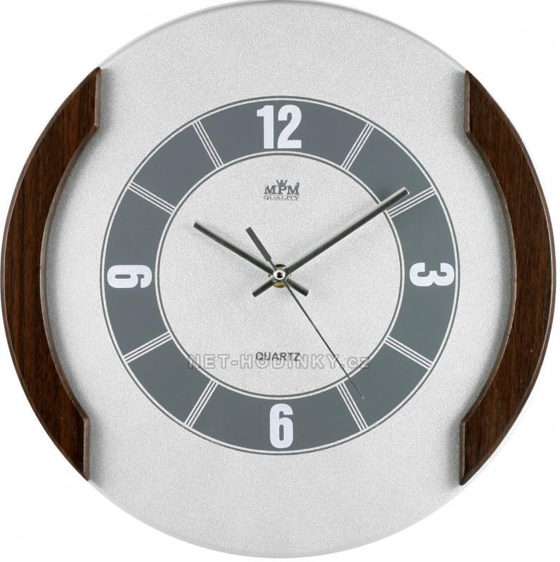 Nástěnné hodiny dřevěné MPM QHA3876A, QHA3876B QHA3876A