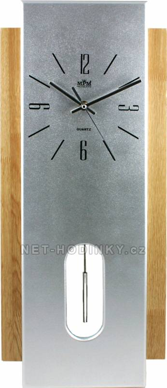 MPM Quality Kyvadlové nástěnné hodiny na zeď, pendlovky quartzové QHA3803B