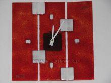 Čtvercové fusingové skleněné nástěnné hodiny