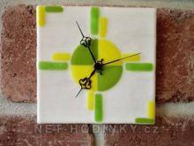 Fusingové skleněné nástěnné hodiny