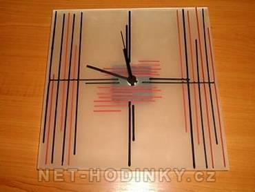autorské hodiny Skleněné nástěnné hodiny ruční výroba