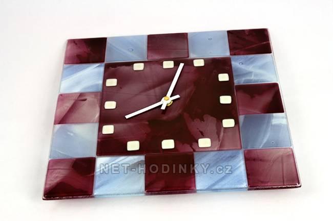 autorské hodiny Nástěnné hodiny skleněné čtverec