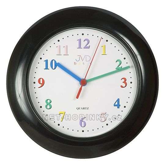 JVD Dětské nástěnné hodiny černá