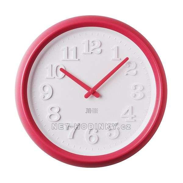 JVD Dětské nástěnné hodiny růžová