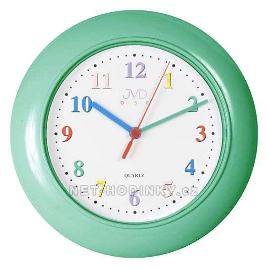 JVD Dětské nástěnné hodiny zelená