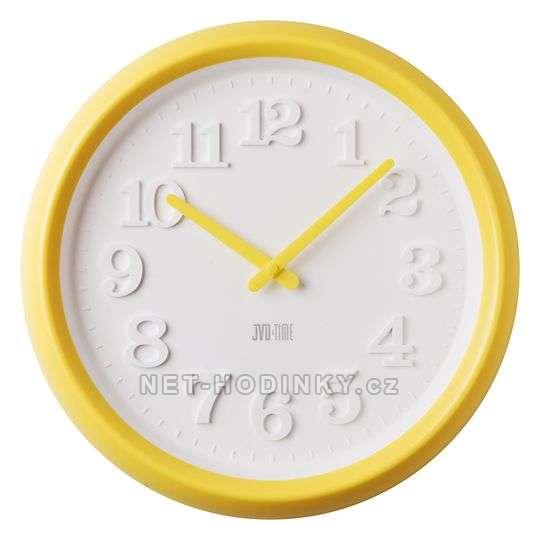 JVD Dětské nástěnné hodiny žlutá