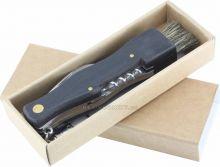 Nástěnné hodiny Houbařský nůž s dřevěnou rukojetí. Nástěnné hodiny