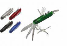 Nástěnné hodiny Kapesní kovový nůž s 11 funkcemi Nástěnné hodiny