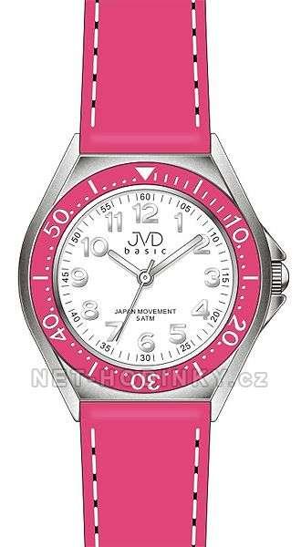 JVD Náramkové dětské hodinky pro holky, dívčí hodinky, hodinky pro kluky růžová