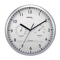 Nástěnné hodiny s vlhkoměrem a teploměrem Technoline