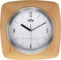 Nástěnné hodiny dřevěné čtvercové
