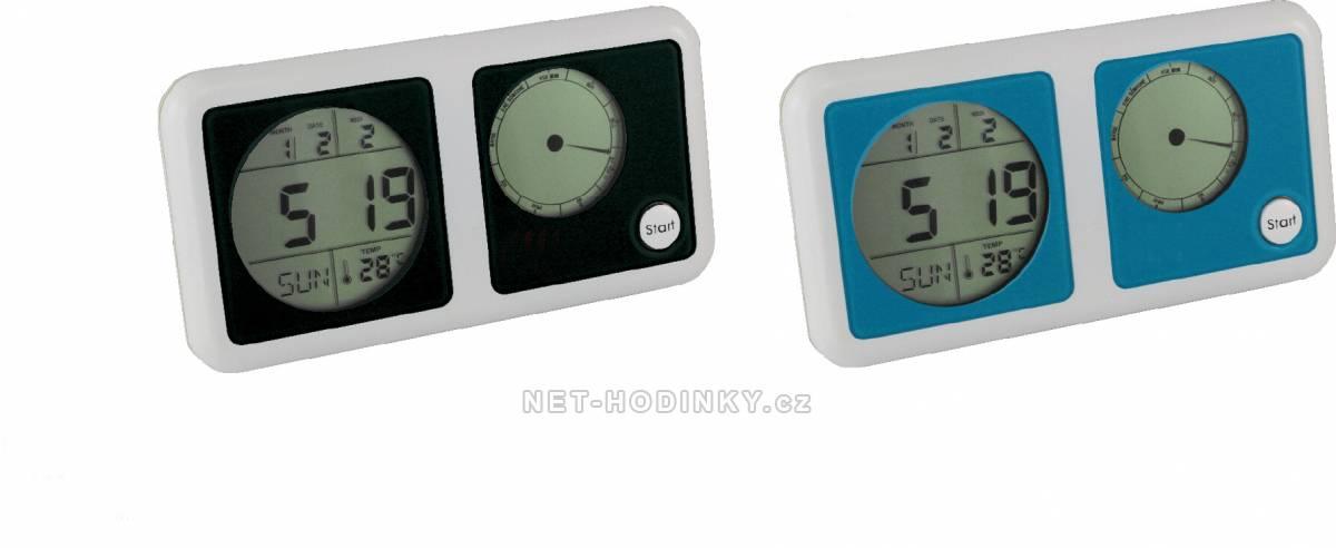 Nástěnné hodiny Plastové stolní hodiny s el. hrou Nástěnné hodiny