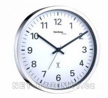 Rádiem řízené hodiny kulaté WS8950WB.5.7 stříbrná barva rádiem řízený čas SKLADEM