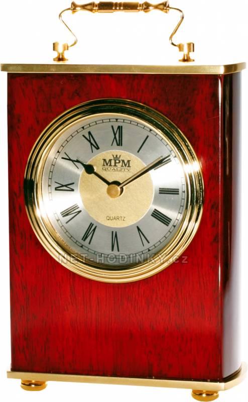 MPM Quality Stolní dřevěné hodiny T113-02