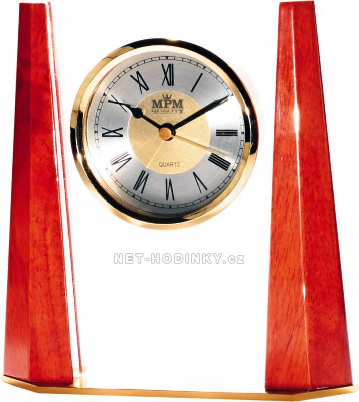 MPM Quality Stolní dřevěné hodiny T138-02