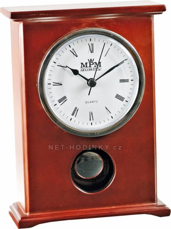 MPM Quality Stolní dřevěné hodiny T206