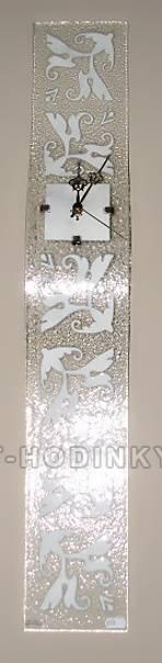 autorské hodiny Dekorační nástěnné hodiny skleněné Fusing
