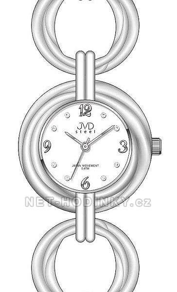 JVD Dámské náramkové hodinky luxusní J4122.2.2 bílá