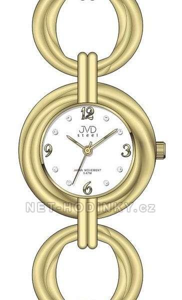 JVD Dámské náramkové hodinky luxusní J4122.3.3 zlatá
