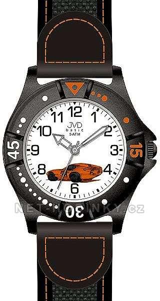 JVD dětské hodinky chlapecké, Dětské náramkové hodinky J7103.4.1, J7103.5.2, J7103.6.3 J7103.4.1 oranžová