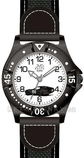 JVD dětské hodinky chlapecké, Dětské náramkové hodinky J7103.4.1, J7103.5.2, J7103.6.3 J7103.6.3 černá