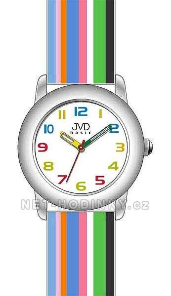 Náramkové dětské hodinky JVD basic W58.1.1, W58.2.2, W58.3.3, hodinky pro holky a kluky W58.3.3