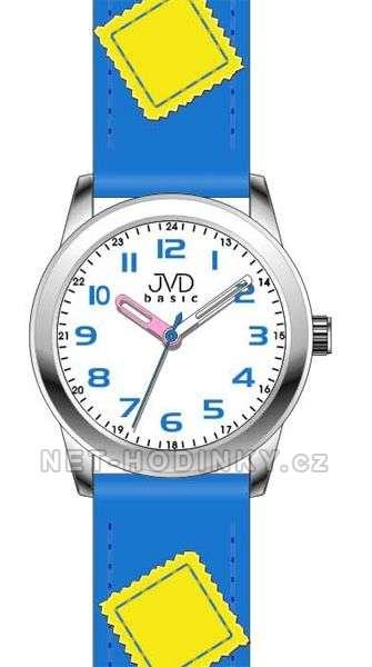 Náramkové dětské hodinky JVD basic W61. 1.1, W61.2.2, W61.3.3, hodinky pro holky a kluky W61.3.3 modrá