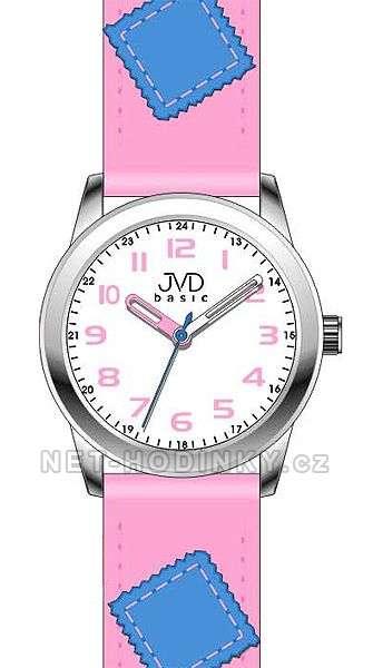 Náramkové dětské hodinky JVD basic W61. 1.1, W61.2.2, W61.3.3, hodinky pro holky a kluky W61.1.1 růžová
