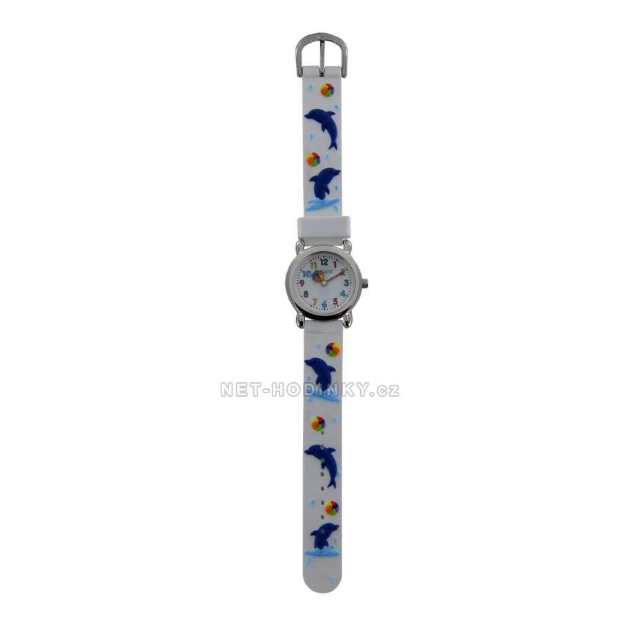 Disney Náramkové dětské hodinky, chlapecké hodinky holčičí, hodinky pro kluky a holky Hodinky dětské Perfect (FDDELFINW)