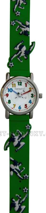 Náramkové dívčí, chlapecké hodinky (FDBUSBL), (FDBEARV), (FDDELFINBL), (FDDETIR) Náramkové hodinky dětské fotbalový míč