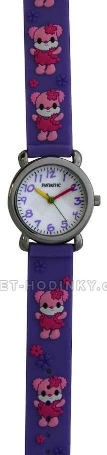 Náramkové dívčí, chlapecké hodinky (FDBUSBL), (FDBEARV), (FDDELFINBL), (FDDETIR) Náramkové hodinky dětské medvídek