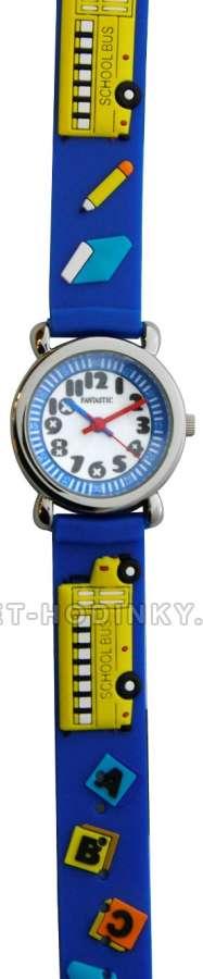Náramkové dívčí, chlapecké hodinky (FDBUSBL), (FDBEARV), (FDDELFINBL), (FDDETIR) Náramkové hodinky dětské autobus