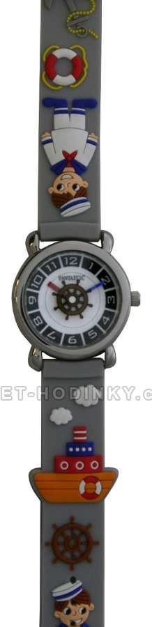 Náramkové dívčí, chlapecké hodinky (FDBUSBL), (FDBEARV), (FDDELFINBL), (FDDETIR) Náramkové hodinky dětské parník