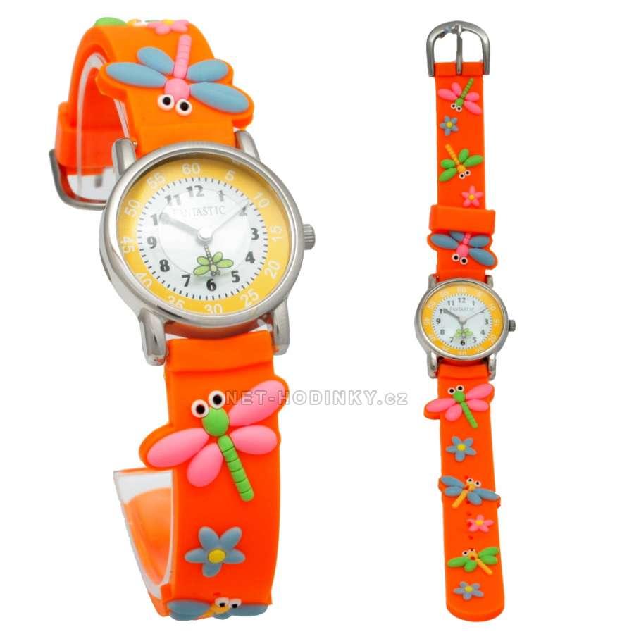 Náramkové dívčí, chlapecké hodinky (FDBUSBL), (FDBEARV), (FDDELFINBL), (FDDETIR) (FDVAZKAOR) vážka