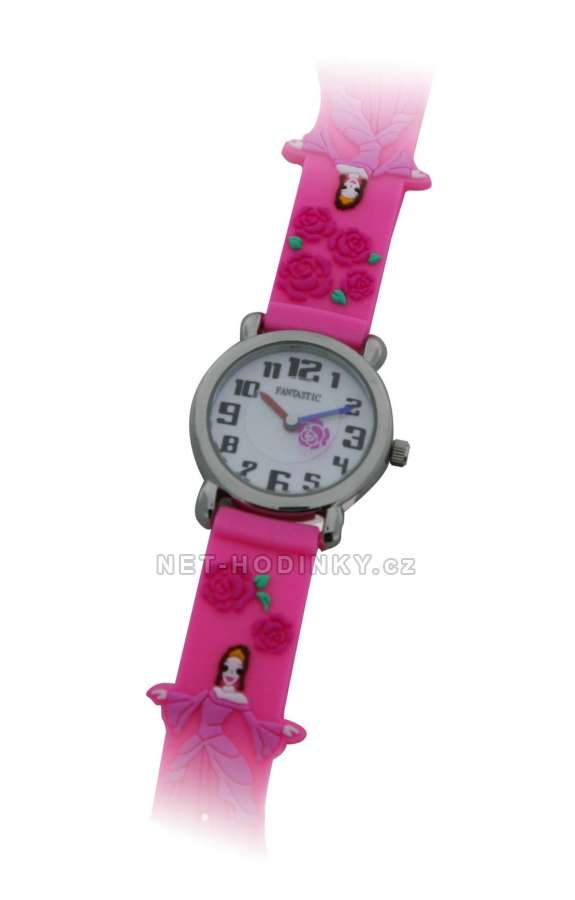 Náramkové dívčí, chlapecké hodinky (FDBUSBL), (FDBEARV), (FDDELFINBL), (FDDETIR) (FDPRINCP) princezna