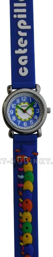 Náramkové dívčí, chlapecké hodinky (FDBUSBL), (FDBEARV), (FDDELFINBL), (FDDETIR) Náramkové hodinky dětské housenka