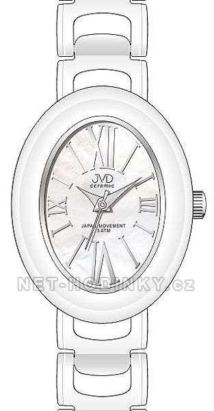 Náramkové hodinky dámské JVD ceramic J6010.1, J6010.2, J6010.3 J6010.3