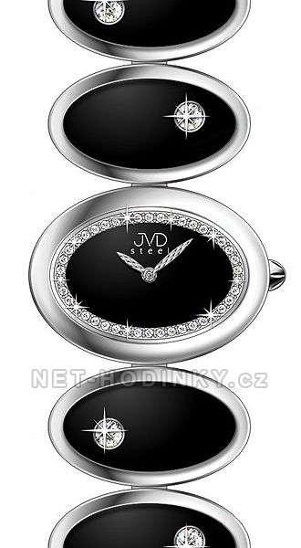 Náramkové hodinky dámské JVD steel W21.1.7, W21.2.4 W21.2.4 černá