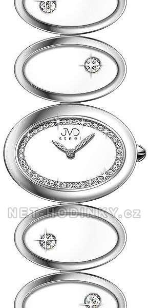 Náramkové hodinky dámské JVD steel W21.1.7, W21.2.4 W21.1.7 bílá
