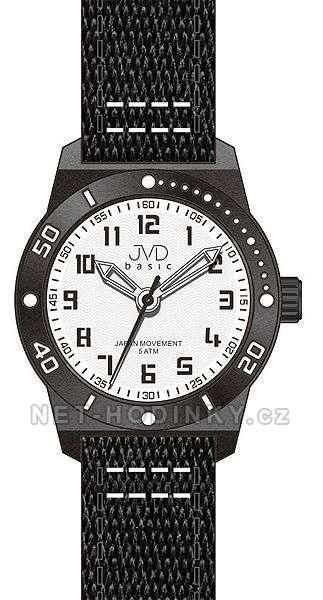 JVD Náramkové hodinky dětské, hodinky pro holky a kluky J7129.1.1 černé