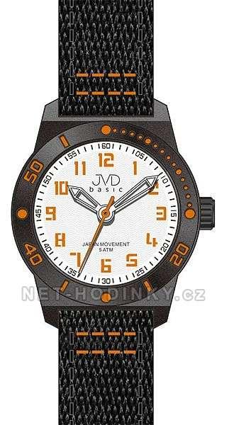 JVD Náramkové hodinky dětské, hodinky pro holky a kluky J7129.2.2 oranžové